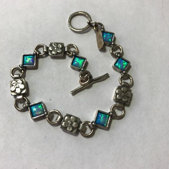 438237f497524 Vintage Israeli handmade silver fire opal bracelet